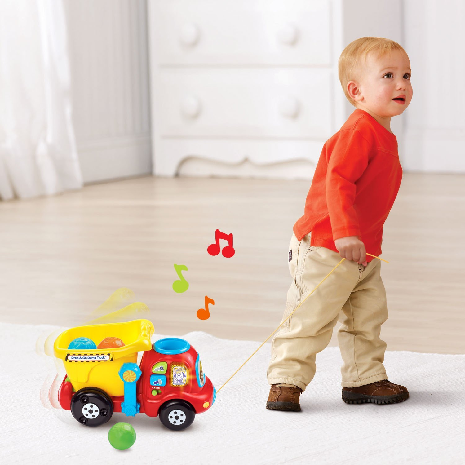 VTech Drop and Go Dump Truck, Fun Toy, 30+ Songs, melodies & phrases, New! by