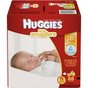 HUGGIES Little Snugglers Diapers, Newborn, Super Pack, 88 count