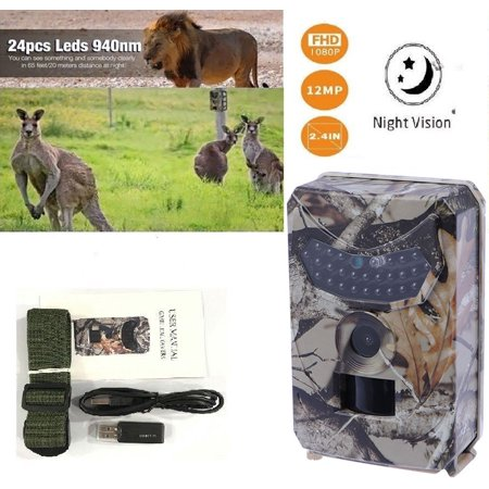 1080P Outdoor Hunting Trail Digital Camera Infrared Night Vision Effectively Prevent Rain, Dust and Insects,Great for Wildlife Hunting Monitoring and Farm Security