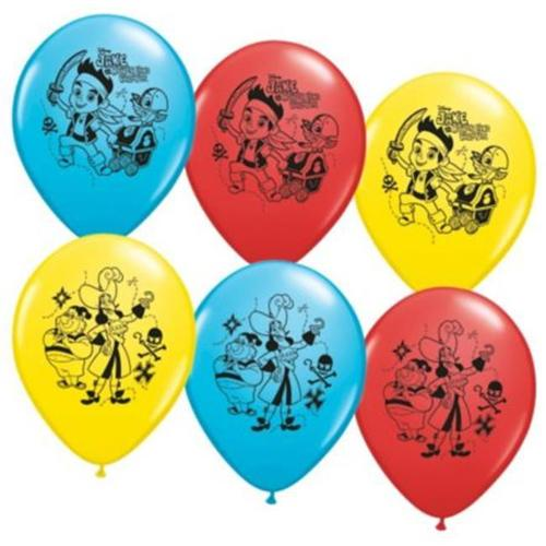 """Jake and the Neverland Pirates 12"""" Latex Balloons (6 Pack) - Party Supplies"""