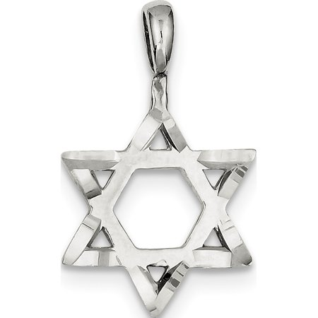 925 Sterling Silver Star of David (19x31mm) Pendant / Charm - image 1 of 2