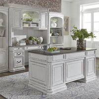 Liberty Furniture 3 Piece Home Office Set in Antique White