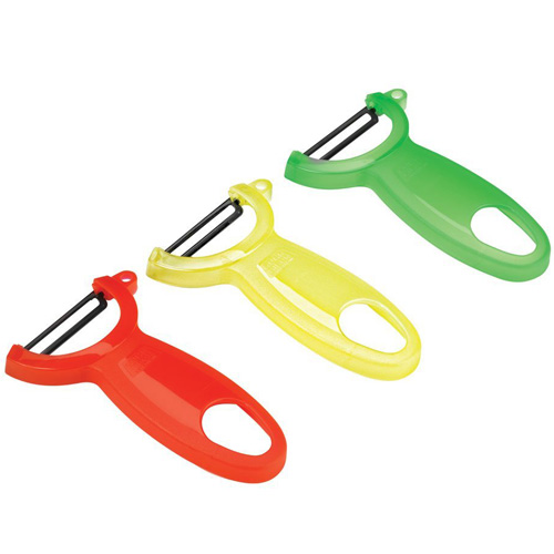 Kuhn Rikon Original Swiss Translucent Peelers, Set of Red, Green and Yellow