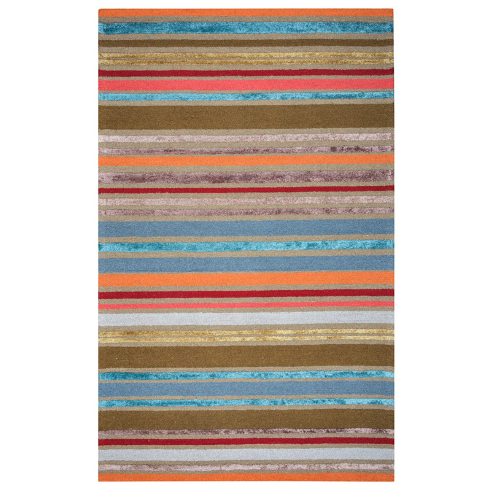 Rizzy Home Multi Colored Rug In Wool And Viscose 8'x10'