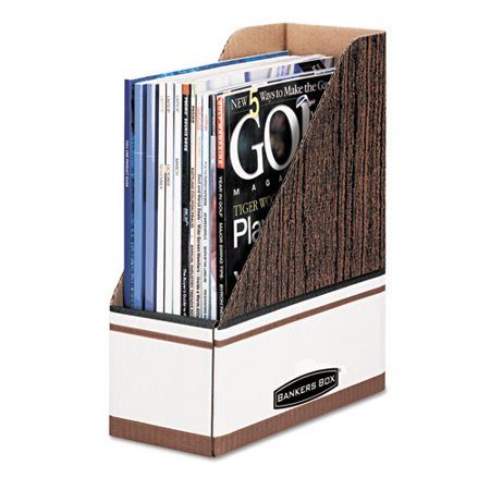 Bankers Box Corrugated Magazine File, Letter Size, Each