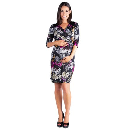 Adult Belle Dress (Blossoming Belle Floral Long Sleeve Maternity Wrap)