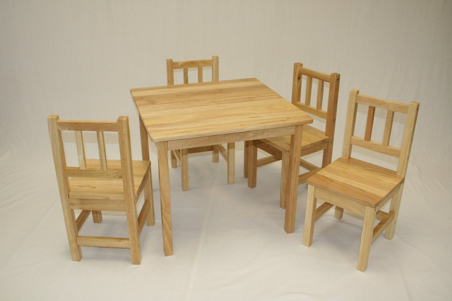 Ehemco Piece Kids Table And Chairs Set Solid Hard Wood