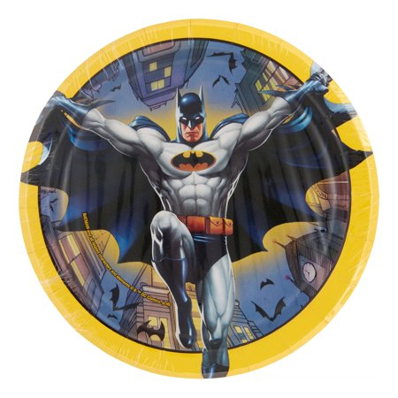 Batman Dessert Plates, Round, 7