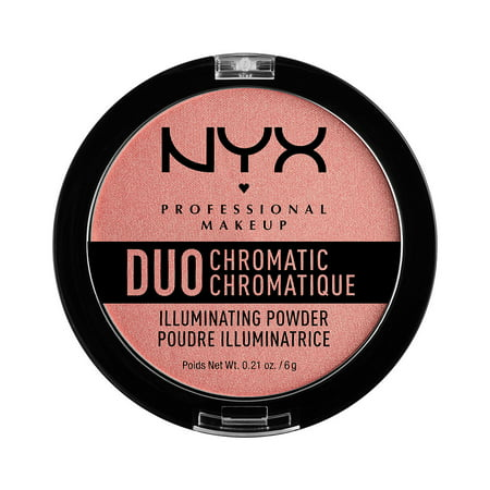 NYX Professional Makeup Duo Chromatic Illuminating Powder, Crushed Bloom (Wonder Woman And Poison Ivy)