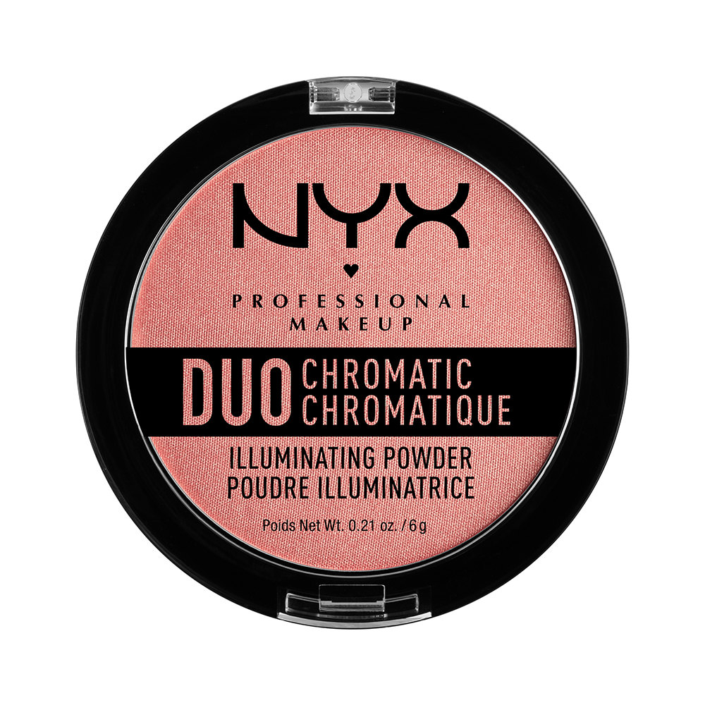 NYX Professional Makeup Duo Chromatic Illuminating Powder, Crushed Bloom
