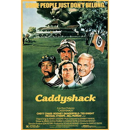 Rodney Dangerfield In Caddyshack (Caddyshack Movie POSTER 27 x 40 Chevy Chase, Rodney Dangerfield, A, MADE IN THE U.S.A., PRODUCED IN AND SHIPS FROM THE U.S.A. ON POSTER PAPER By)
