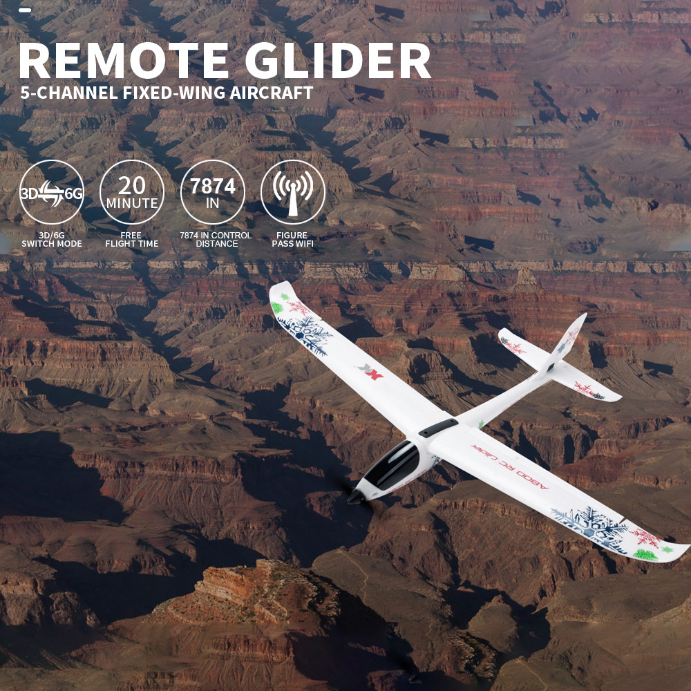 WL XK-A800 EPO Fixed Wing 5CH Glider Wingspan 780mm Remote Control Airplane by