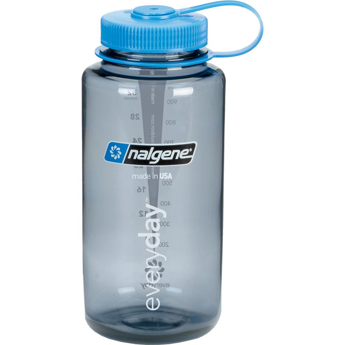 Nalgene BPA Free Tritan Wide Mouth Water Bottle,32 oun Gray w blue