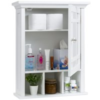 Best Choice Products Home Bathroom Vanity Mirror Wall Organizational Storage Medicine Cabinet, White