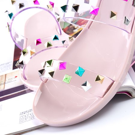 Women Jelly Slide Sandals Summer Flat Flip Flops Sandals Slippers