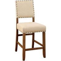 Furniture of America Freiden Counter Height Dining Chair, Natural Tone, Set of 2