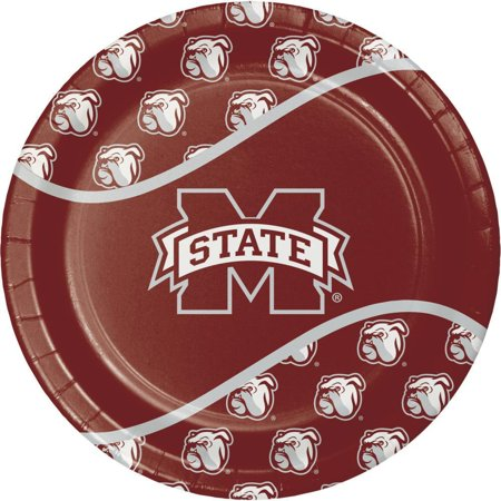 Creative Converting Mississippi State University Paper Plates, 8 ct (Mississippi State Office Supplies)