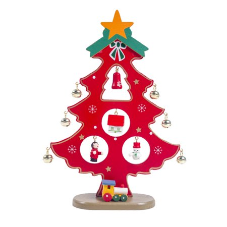 Tabletop Christmas Tree Artificial Decorations Home Decor Office Kitchen Dining Table ()