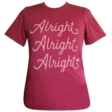 Girlie Girl Originals Lulu Mac Collection Alright Alright Alright Short Sleeve T-Shirt-Heather