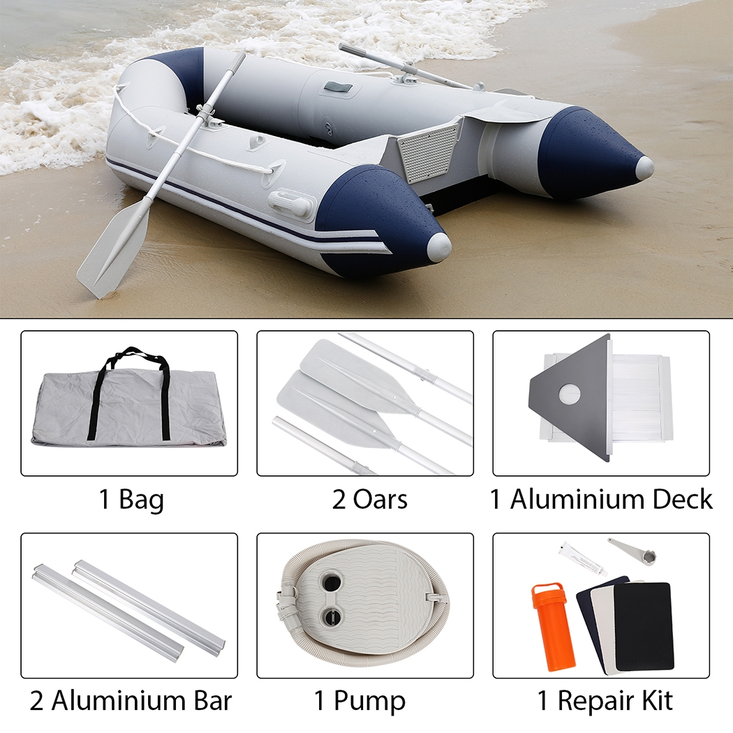 PVC Inflatable Boat with Aluminum Floor 7.5inch Fish Boat BYE by