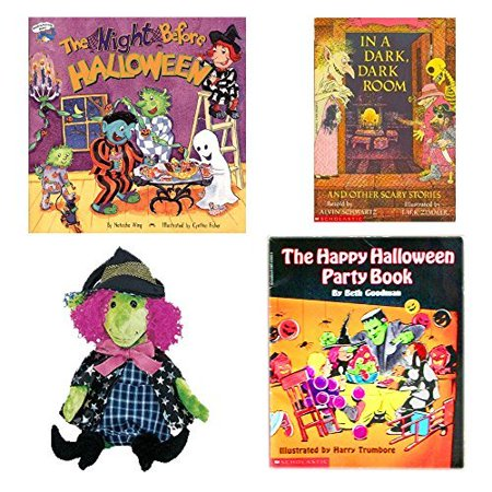 Halloween Books & Witch Beanie 4 Piece Party Pack Ages 3+ for $<!---->