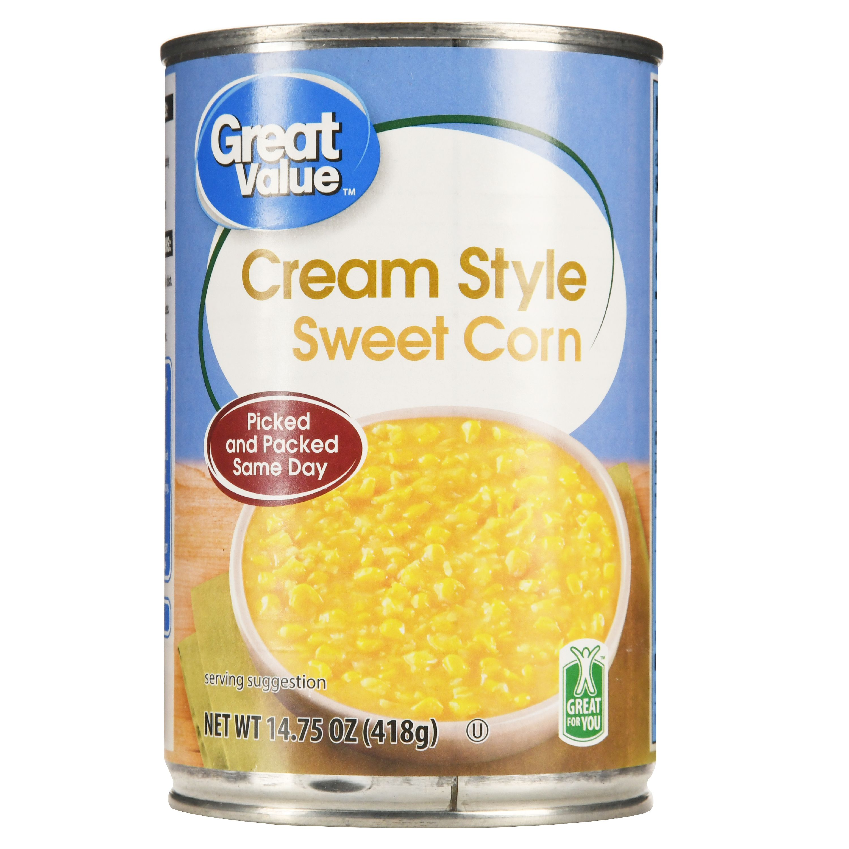 great value cream style sweet corn 14 75 oz walmart com