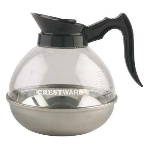 CRESTWARE PD64 Coffee Decanter, 64 oz., Black