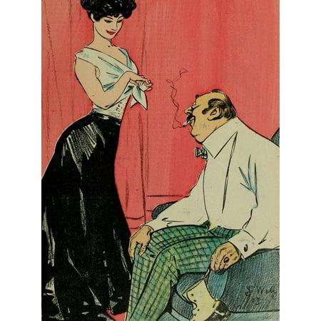 La Vie en Rose 1903 Risque couple Poster Print by  Jacques - Risque Adult Shop