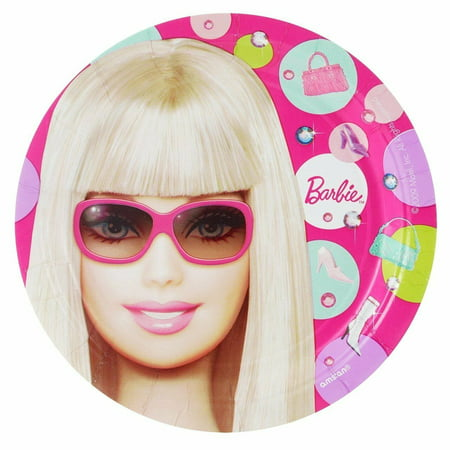 Barbie Party Plates (Barbie All Doll'd Up Dessert Plates 8)