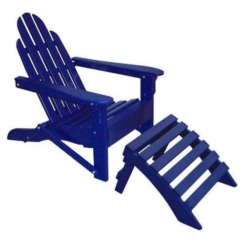 Prairie Leisure Aspen Folding Adirondack Chair and Ottoman