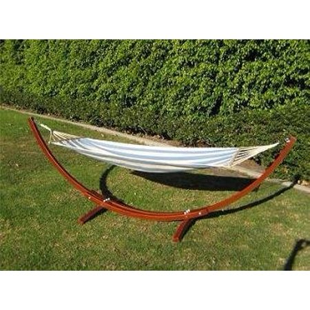 ProsourceFit Wooden Curved Arc Hammock Stand W/ Hammock Oak or Cypress