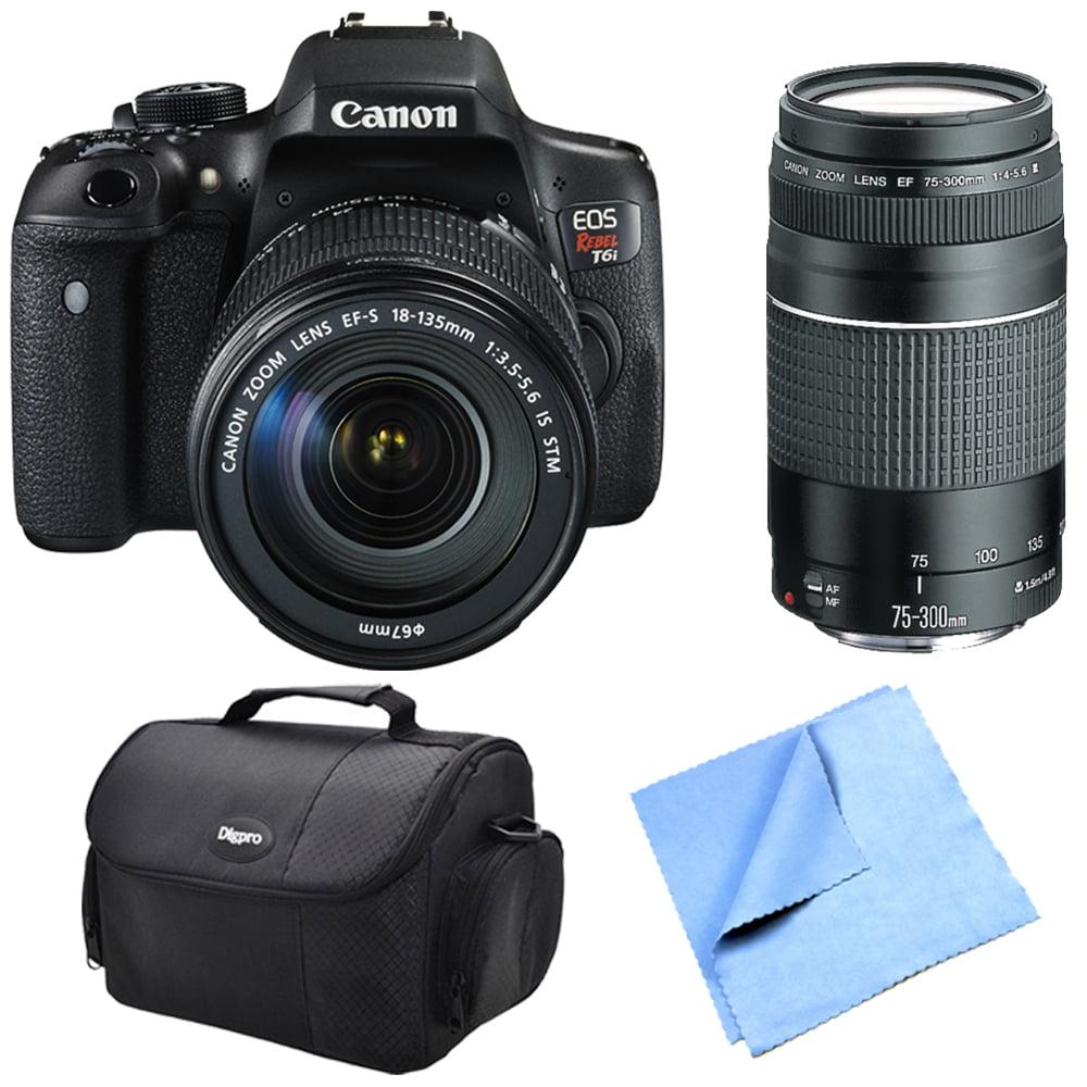 Canon EOS Rebel T6i Digital SLR Camera Body with EF-S 18-...