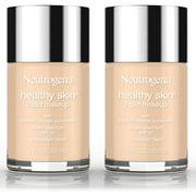 2 Pack -Neutrogena Healthy Skin Liquid Makeup Foundation, Broad Spectrum Spf 20, 60 Natural Beige, 1 Oz.