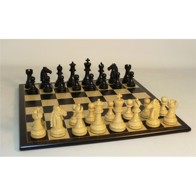 WW Chess 37BM-BBM Black Mustang on Blk Birdseye Brd by WW Chess