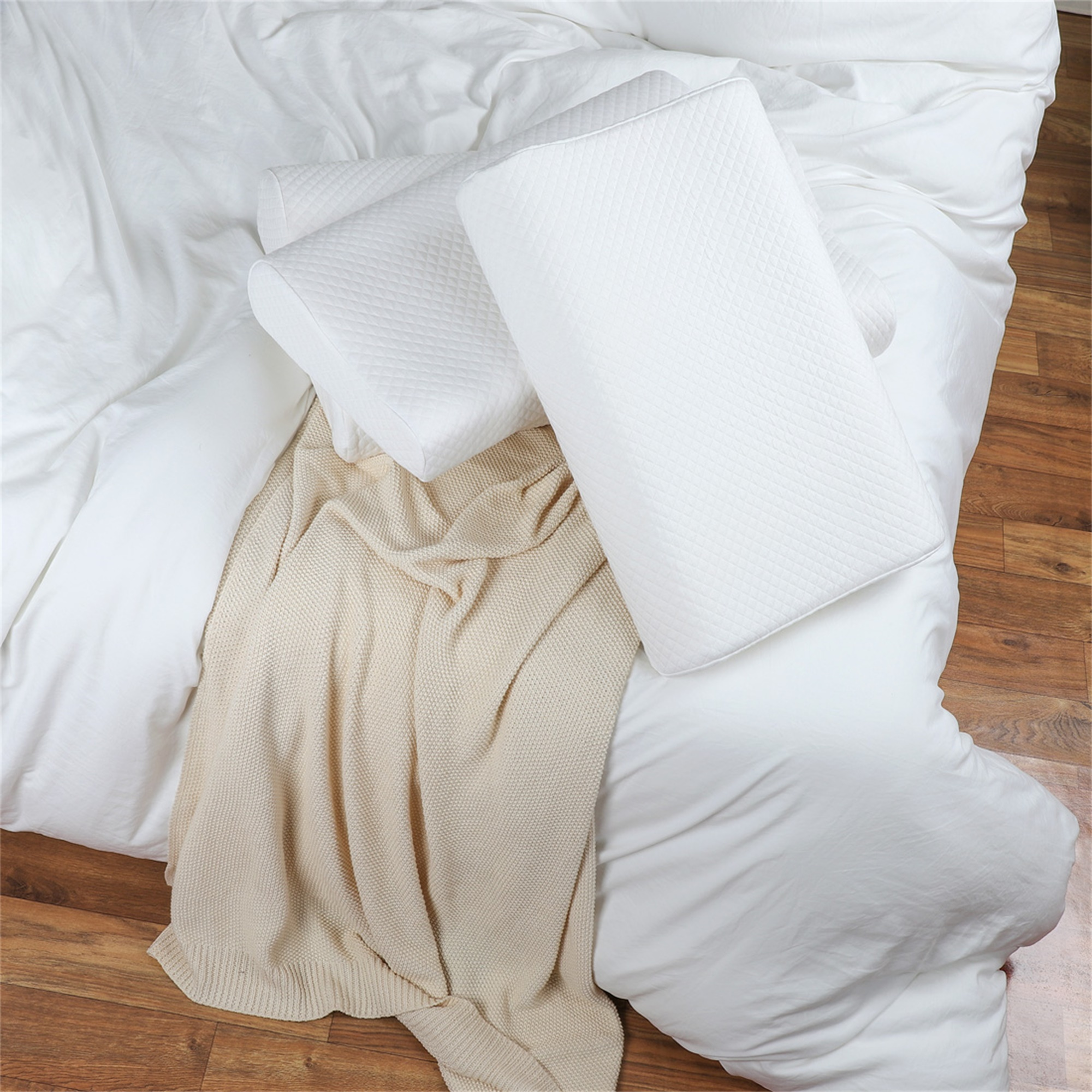 Contoured Memory Foam Pillow ! Standard Bed Pillow Available in 3 Sizes
