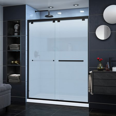Dreamline Encore 56 60 In W X 76 In H Frosted Glass Semi