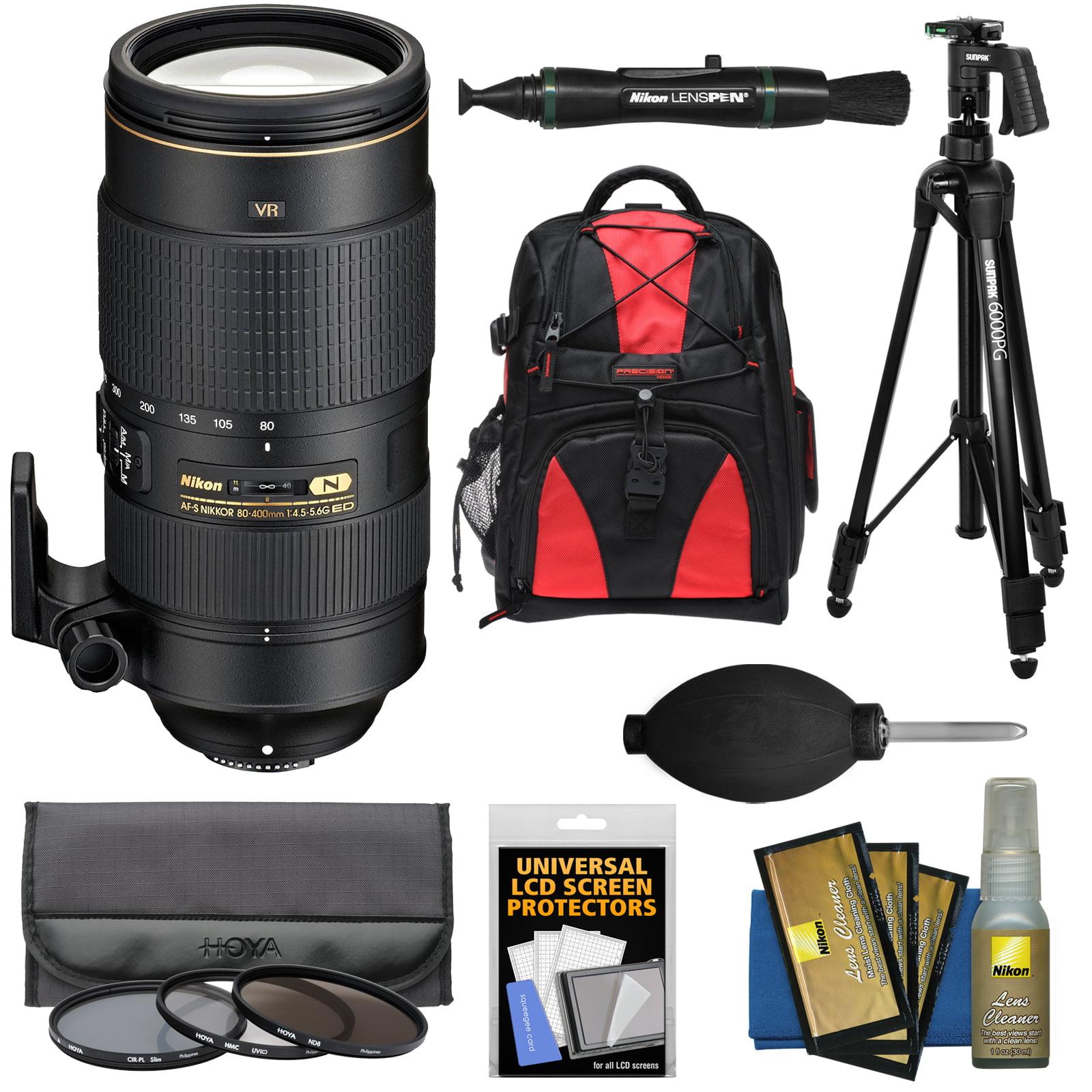Nikon 80-400mm f/4.5-5.6G VR AF-S ED Nikkor-Zoom Lens + B...