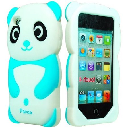 Prada Ipod (iPod Touch 4 Case, Bastex 3D Silicone Sky Blue & White Panda Bear Case for Apple iPod Touch 4 … )