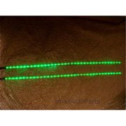 SmallAutoParts 24 in. Led Strips Waterproof, Green - Set Of 2
