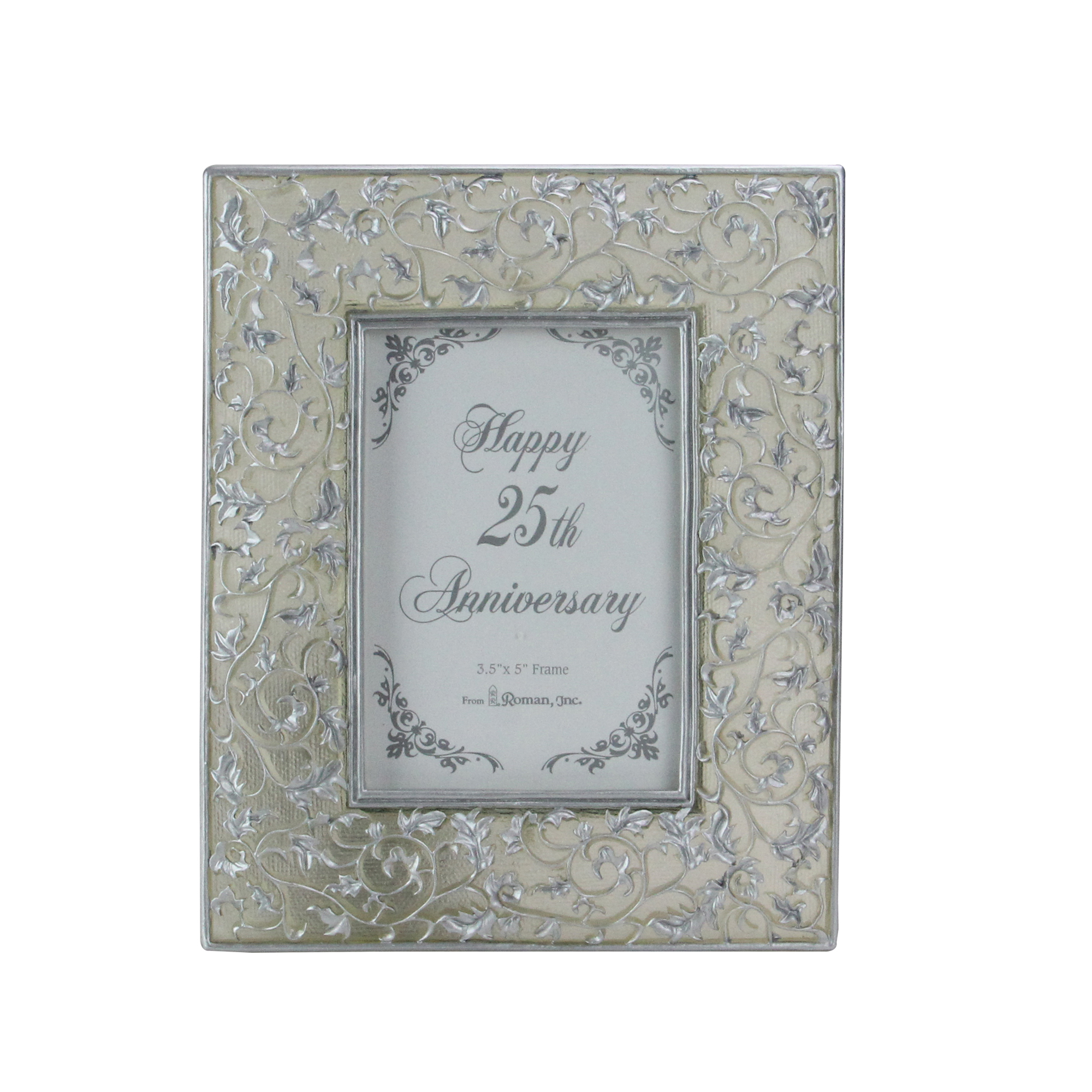 25th Silver Wedding Anniversary 35 X 5 Photo Frame 60849