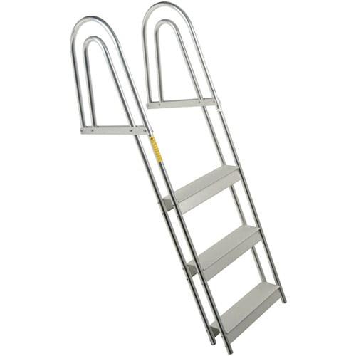Garelick EEz-In Anodized Aluminum 5-Step Dock/Raft Ladder, Fixed Model