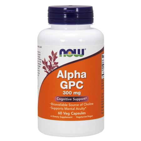 NOW Supplements, Alpha GPC 300 mg with Bioavailable Source of Choline, 60 Veg