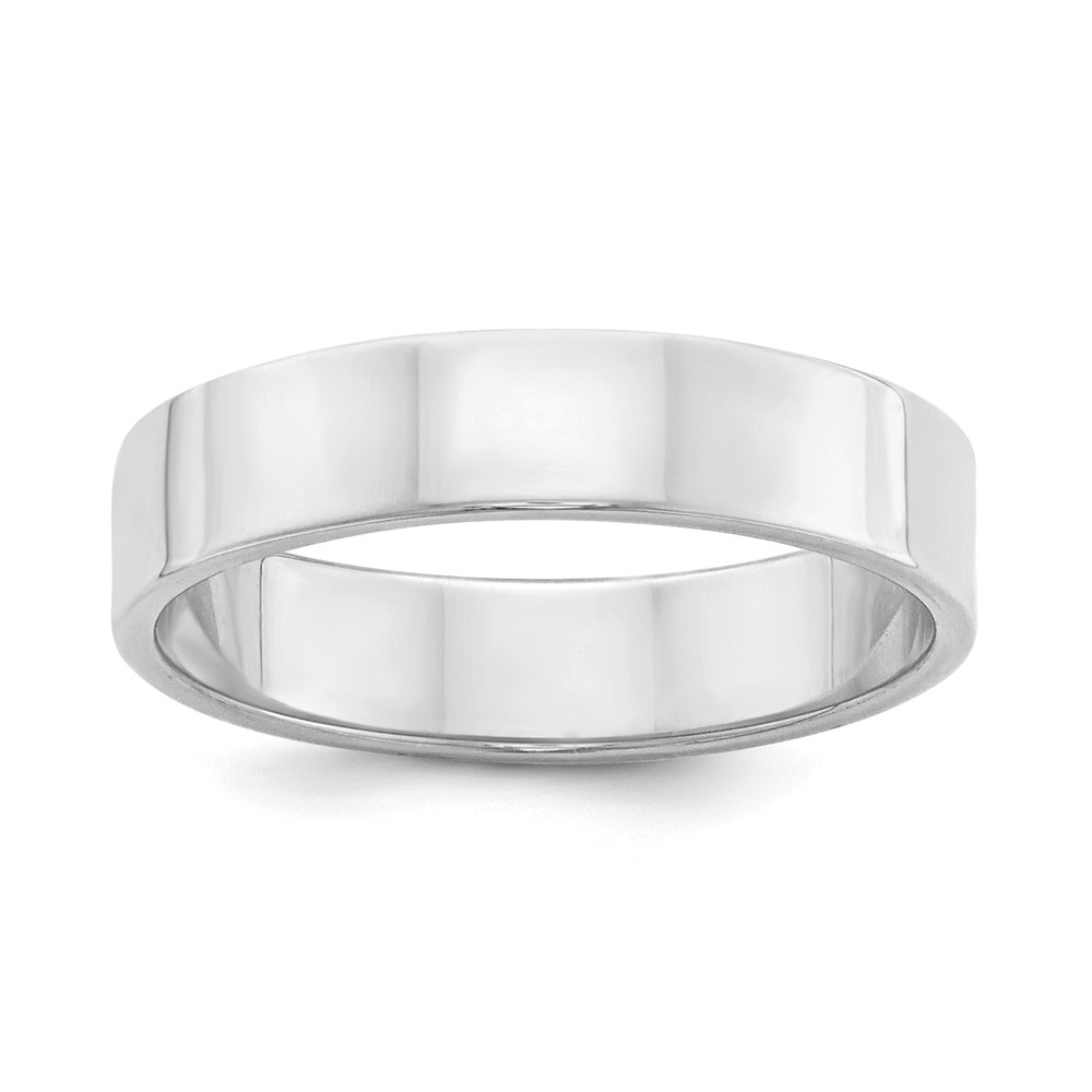 Sterling Silver 5mm Flat Size 13.5 Band Ring
