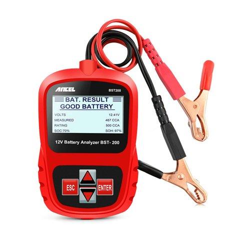 Ancel BST200 Car Battery Load Tester 12V 100-1100 CCA Automotive Bad Cell Test Tool Digital Analyzer Multi Languages Car Battery Load Tester