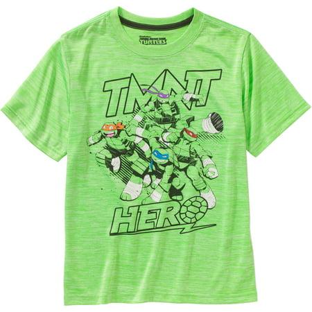 Teenage Mutant Ninja Turtles Clothing (Teenage Mutant Ninja Turtle Hero Cationic Poly Graphic Tee (Little Boys & Big)