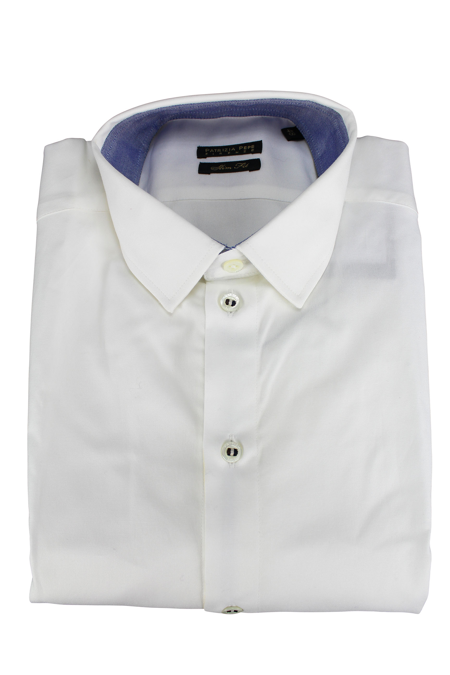 Patrizia Pepe Mens Dress Shirt Size M Us 48 It Regular White