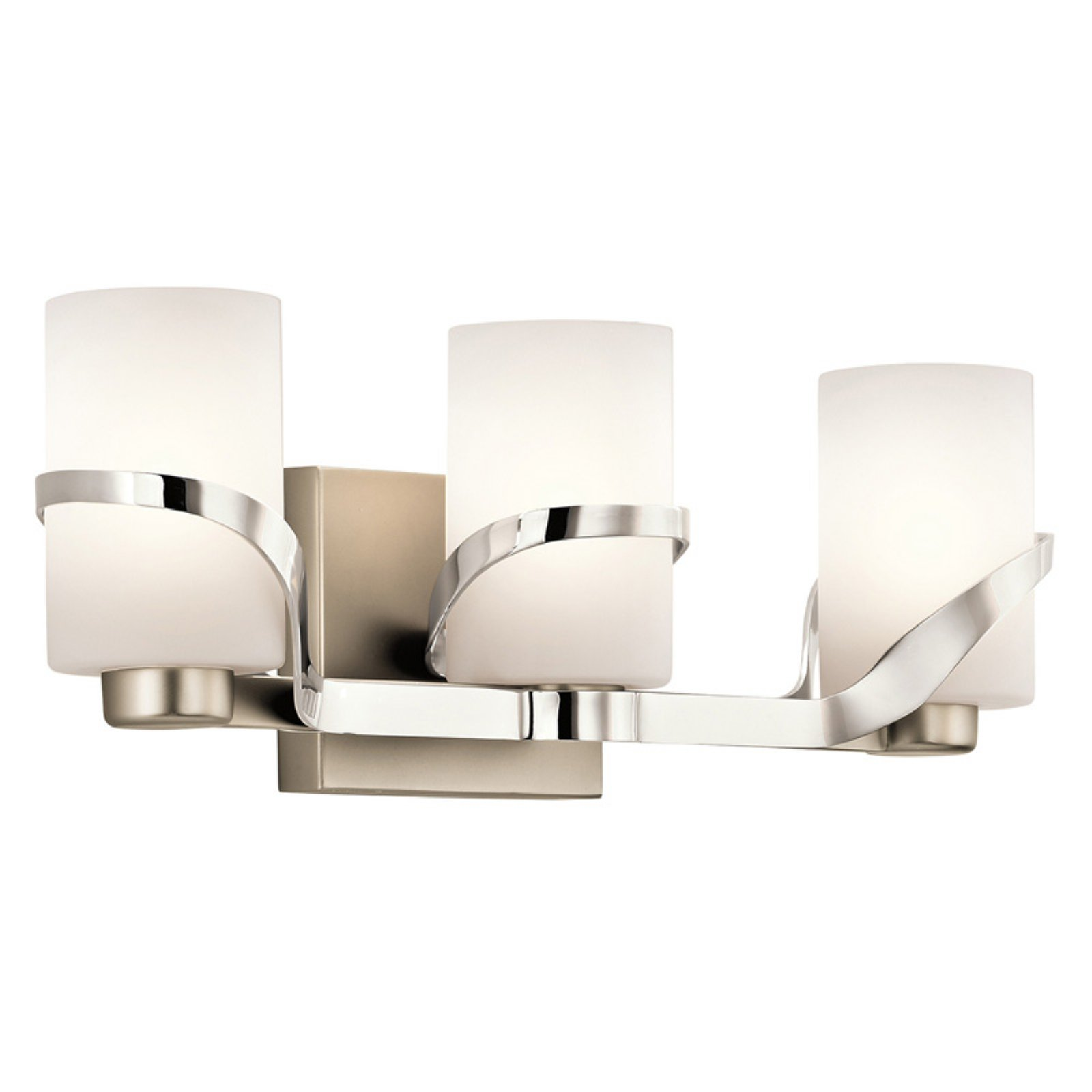 Kichler stelata 45629pn 3 light bathroom vanity light