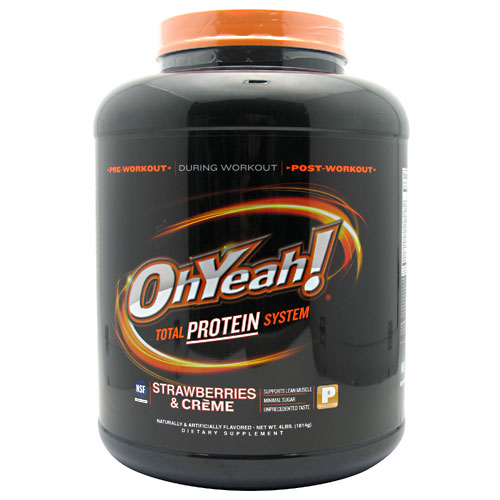 ISS Oh Yeah! Total Protein System, Strawberries and Creme, 4 Pound