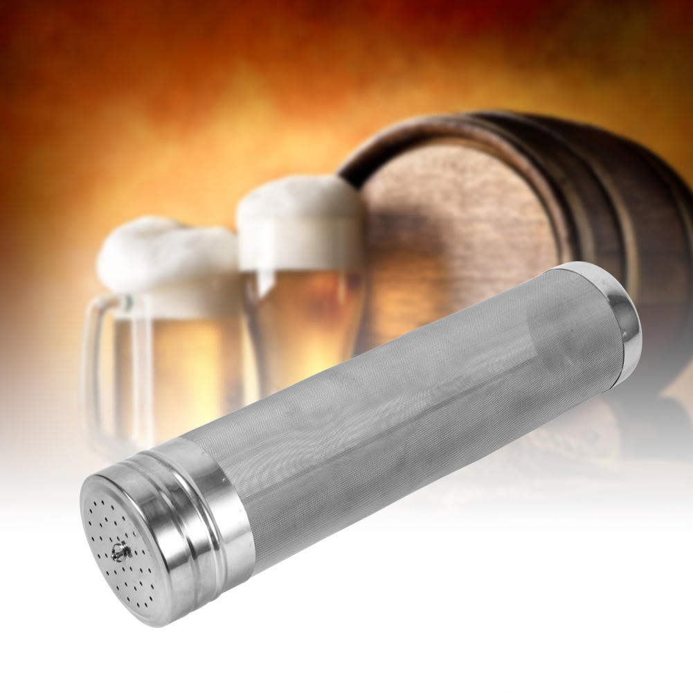 Tbest Hop Filter, Stainless Steel Hop Filter,Stainless Steel Homebrew Beer Wine Hopper Filter Strainer 300 Micron Useful Home Accessory