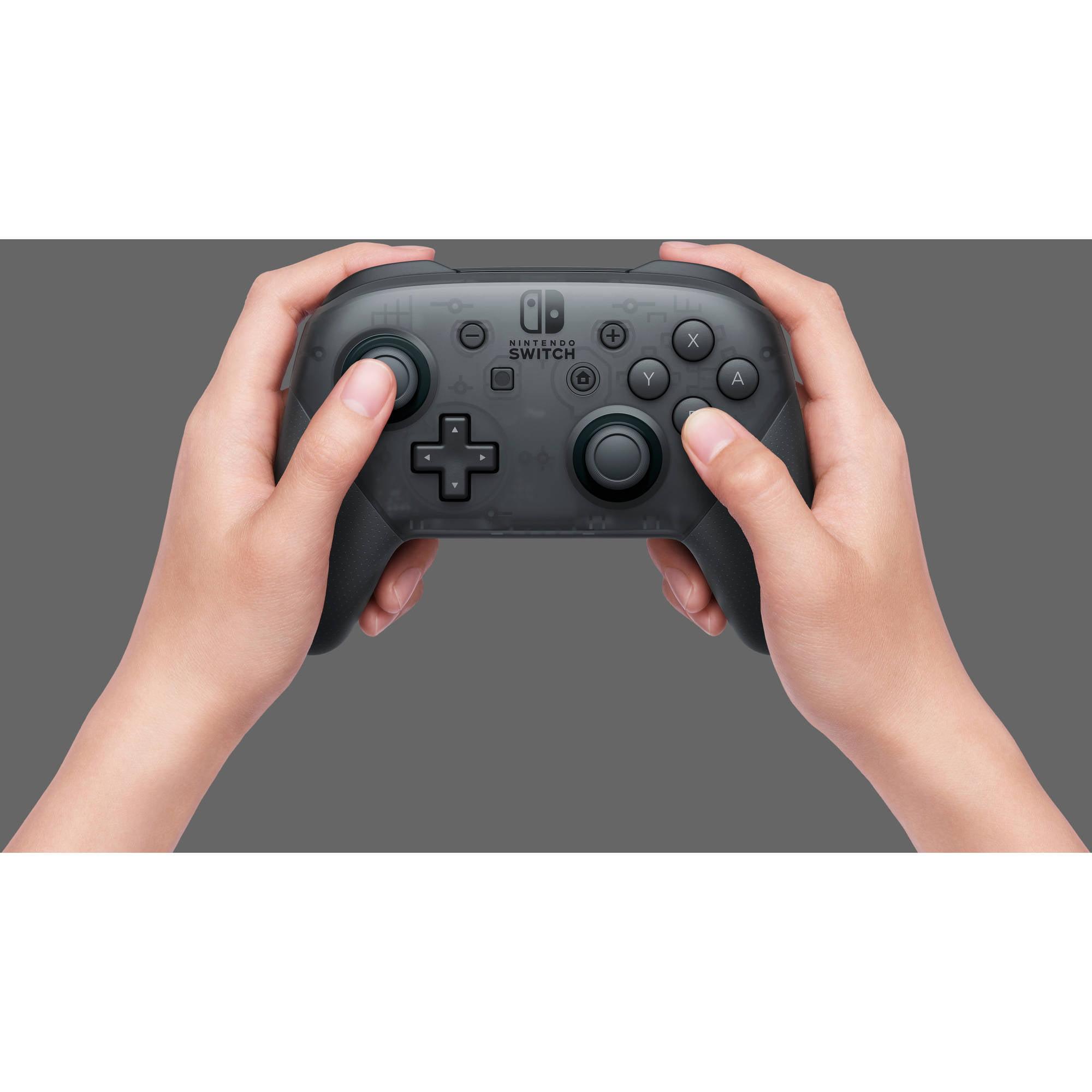 Nintendo Switch Pro Controller, Black, HACAFSSKA, 00045496590161 ...